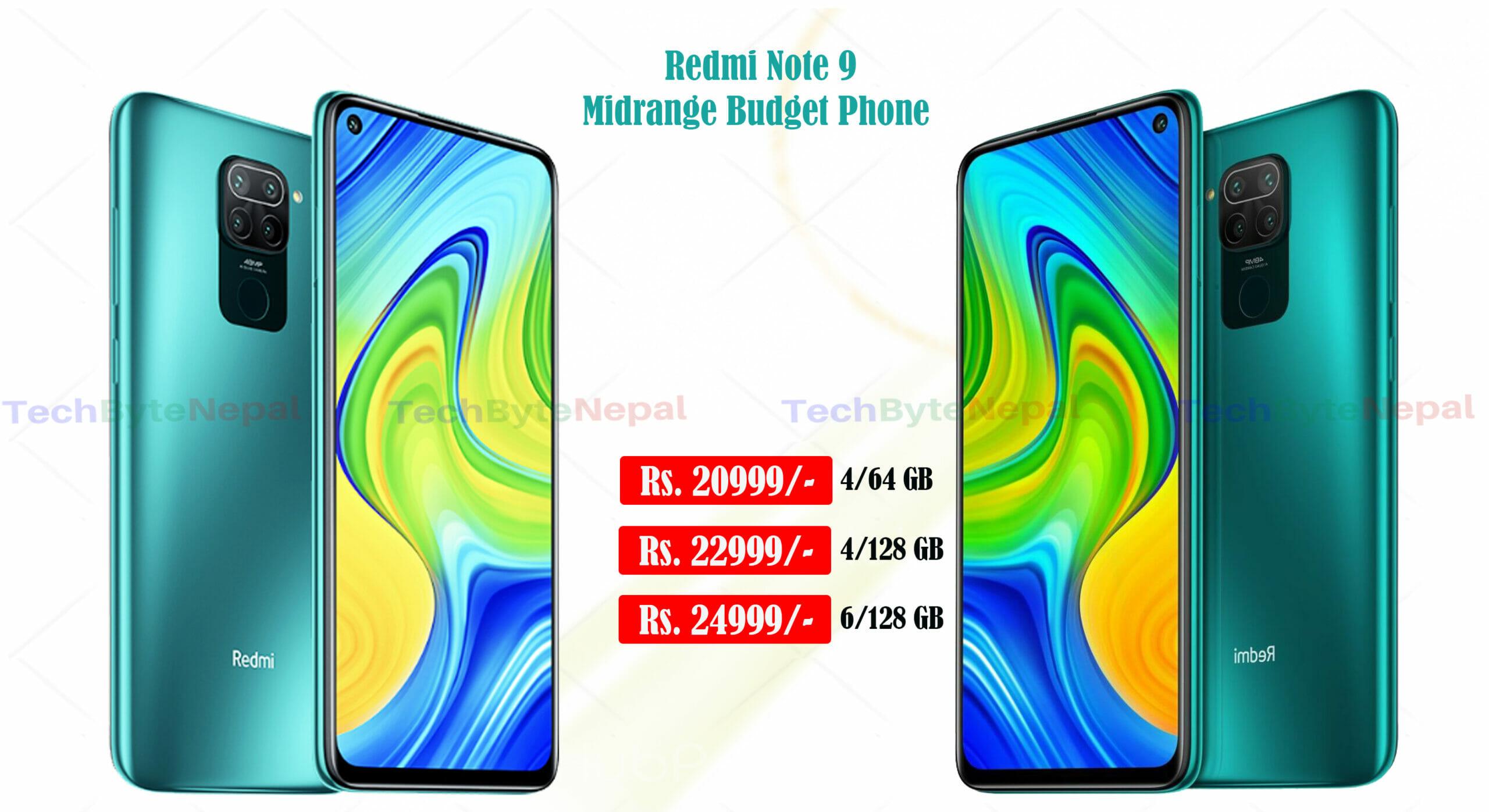 Redmi Note 9 is midrange budget phone