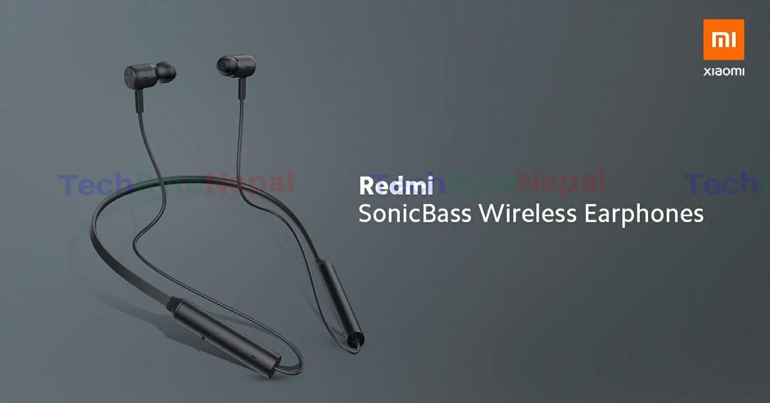 Redmi SonicBass Wireless Earphones is built of plastic